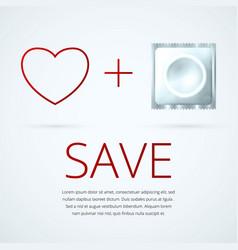 white condom 1 vector image
