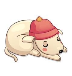 Winter dog vector