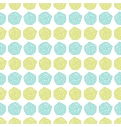 Seamless repeat pattern with polygonal shapes vector