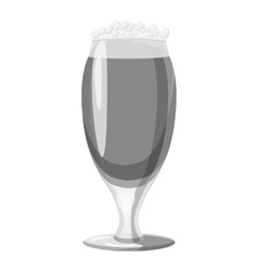 Wine goblet icon gray monochrome style vector