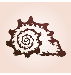 Decorative seashell vector