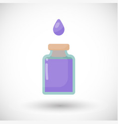 Poison bottle flat icon vector