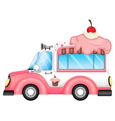 A vehicle selling desserts vector image