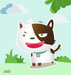 Smile dog lovely vector