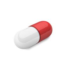 3d capsule pill vector