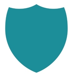 Shield flat soft blue color icon vector