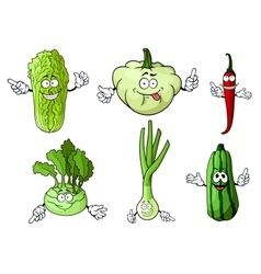 Cartoon fresh isolated farm vegetables vector
