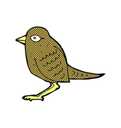 Comic cartoon garden bird vector