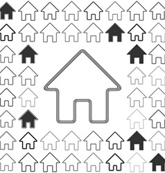 Line house logo design set vector