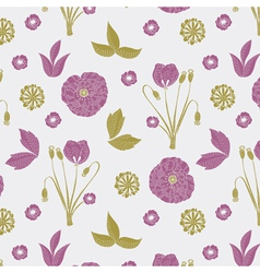 purple cute nature print vector image
