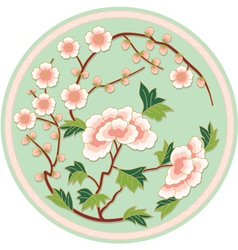 Chinese Traditional Floral Pattern vector image