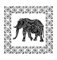 A tribal totem animal vector