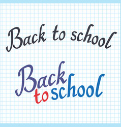 Back to school poster with lettering sheet in the vector