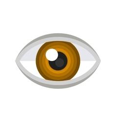 Brown eye icon vector