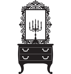 candlestick and mirrow vector image vector image