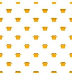 Carton box pattern cartoon style vector