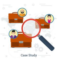 Case study concept vector