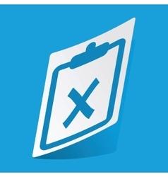 Clipboard no sticker vector