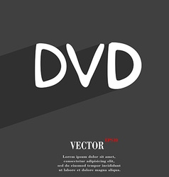 dvd icon symbol Flat modern web design with long vector image