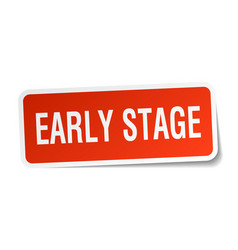 early stage square sticker on white vector image vector image