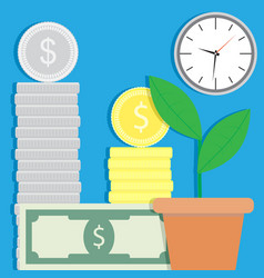 Finance success and growth vector