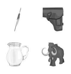 Food accessories tool and other monochrome icon vector