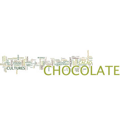 For the love of chocolate text background word vector
