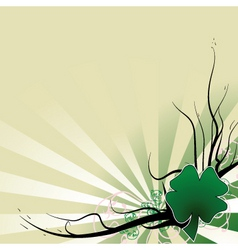 four leaf clover template vector image vector image