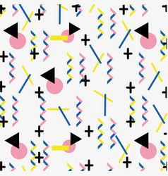 Geometric figures abstract memphis style vector