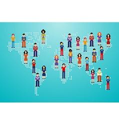 Global social media network vector
