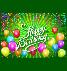Happy birthday typographic design for greeting vector