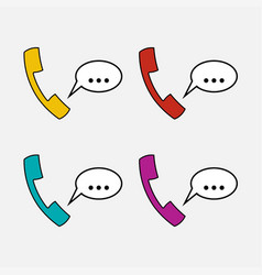 icons handset communication vector image vector image