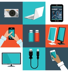 Image of the set of office things vector image vector image