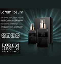 mens perfume with package box vector image vector image