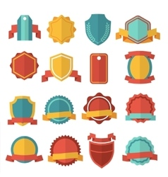 Modern flat badges set vector