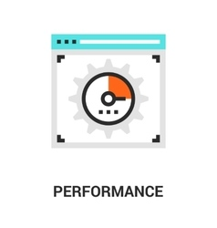 performance icon concept vector image