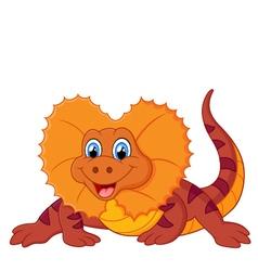 red lizard vector image