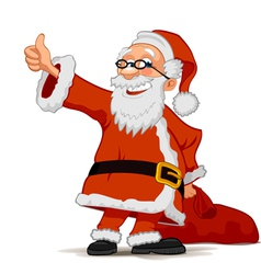 Santa Claus with bag vector image vector image