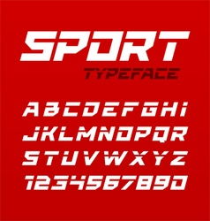 Sports typface vector image vector image