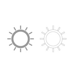 sun the grey set icon vector image vector image