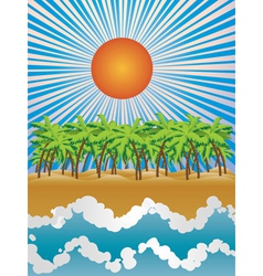 Sunny tropical island vector image