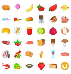 Teabag icons set cartoon style vector