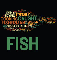 The best way to cook your freshly caught fish vector