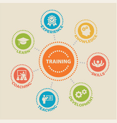 training concept with icons vector image vector image