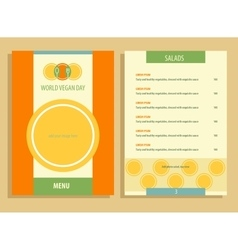 World vegan day menu vector