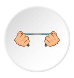 Hands stretch expander icon cartoon style vector