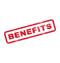 Benefits text rubber stamp vector