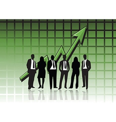 Business people graph vector