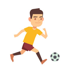 soccer player running with ball isolated white vector image