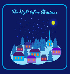 the night before christmas vector image